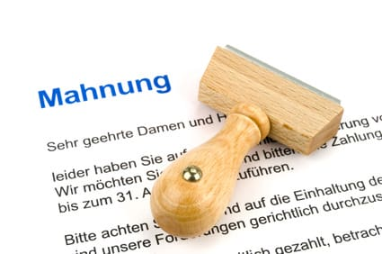 Mahnung focus Forderungsmanagement