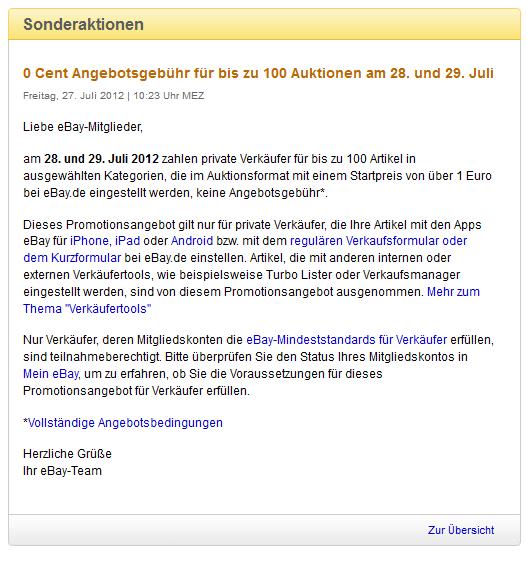 Achtung Bei Ebay Werbung 100 Auktionen Von Privaten Anbietern 0